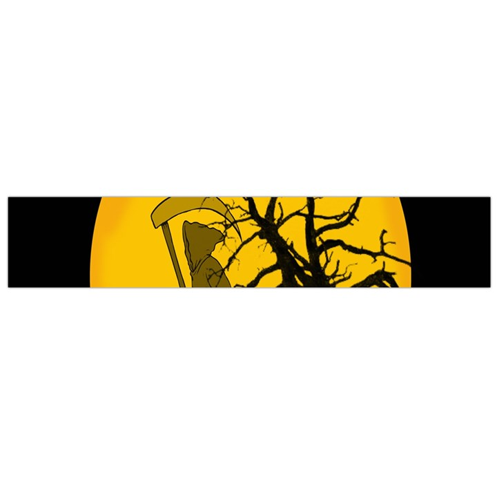 Death Haloween Background Card Flano Scarf (Large)