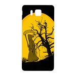 Death Haloween Background Card Samsung Galaxy Alpha Hardshell Back Case Front