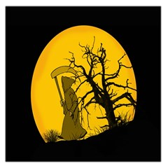 Death Haloween Background Card Large Satin Scarf (Square)