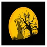 Death Haloween Background Card Large Satin Scarf (Square) Front