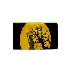 Death Haloween Background Card Cosmetic Bag (XS)