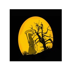 Death Haloween Background Card Small Satin Scarf (Square)