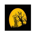 Death Haloween Background Card Small Satin Scarf (Square) Front