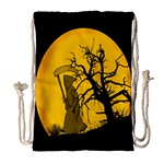 Death Haloween Background Card Drawstring Bag (Large) Front