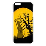 Death Haloween Background Card Apple Seamless iPhone 6 Plus/6S Plus Case (Transparent) Front