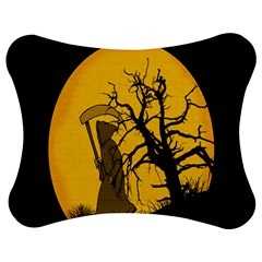 Death Haloween Background Card Jigsaw Puzzle Photo Stand (Bow)