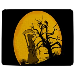 Death Haloween Background Card Jigsaw Puzzle Photo Stand (Rectangular)