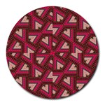 Digital Raspberry Pink Colorful  Round Mousepads Front