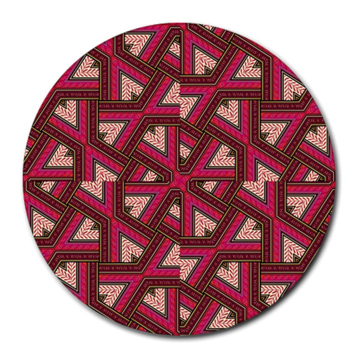 Digital Raspberry Pink Colorful  Round Mousepads