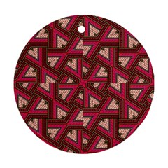 Digital Raspberry Pink Colorful  Ornament (Round)