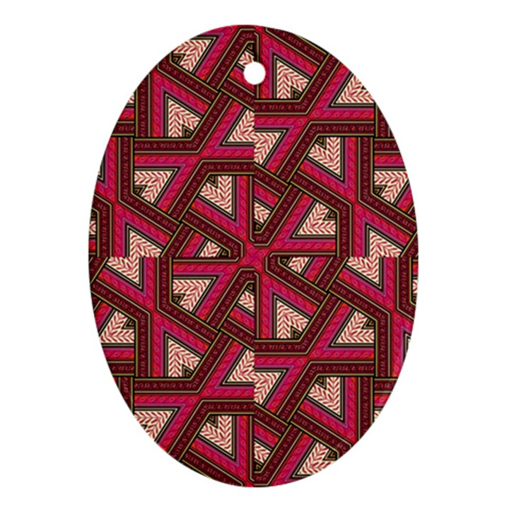 Digital Raspberry Pink Colorful  Ornament (Oval)