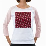 Digital Raspberry Pink Colorful  Girly Raglans Front