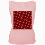 Digital Raspberry Pink Colorful  Women s Pink Tank Top Front