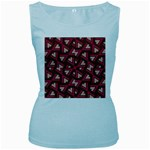 Digital Raspberry Pink Colorful  Women s Baby Blue Tank Top Front