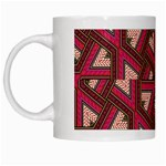 Digital Raspberry Pink Colorful  White Mugs Left