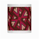 Digital Raspberry Pink Colorful  White Mugs Center