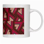 Digital Raspberry Pink Colorful  White Mugs Right