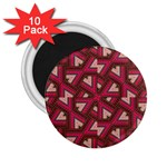 Digital Raspberry Pink Colorful  2.25  Magnets (10 pack)  Front