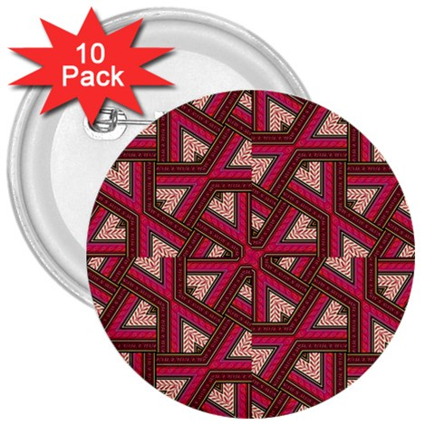 Digital Raspberry Pink Colorful  3  Buttons (10 pack)