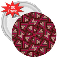 Digital Raspberry Pink Colorful  3  Buttons (100 pack)
