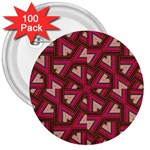 Digital Raspberry Pink Colorful  3  Buttons (100 pack)  Front