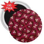 Digital Raspberry Pink Colorful  3  Magnets (100 pack) Front