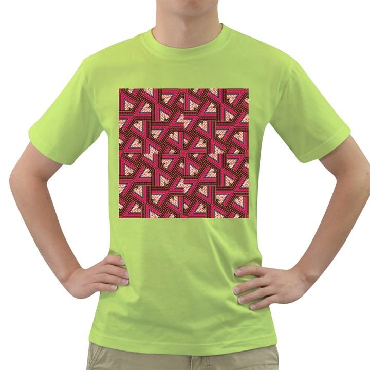 Digital Raspberry Pink Colorful  Green T-Shirt