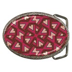 Digital Raspberry Pink Colorful  Belt Buckles Front