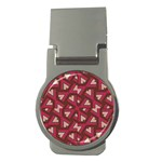 Digital Raspberry Pink Colorful  Money Clips (Round)  Front