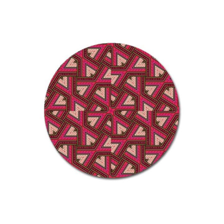 Digital Raspberry Pink Colorful  Magnet 3  (Round)
