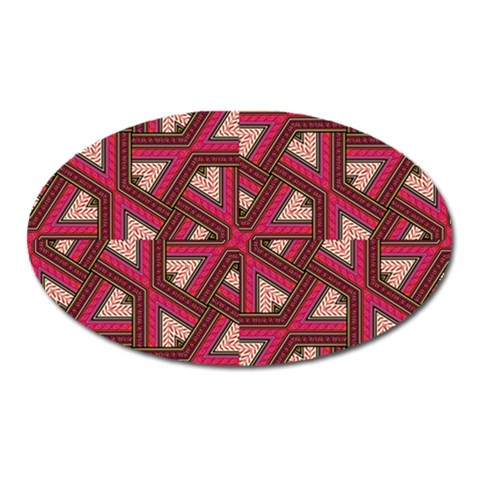 Digital Raspberry Pink Colorful  Oval Magnet