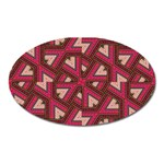 Digital Raspberry Pink Colorful  Oval Magnet Front