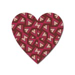 Digital Raspberry Pink Colorful  Heart Magnet Front