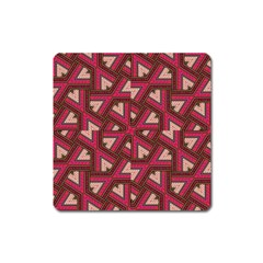 Digital Raspberry Pink Colorful  Square Magnet