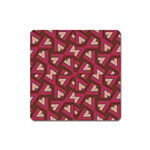 Digital Raspberry Pink Colorful  Square Magnet Front