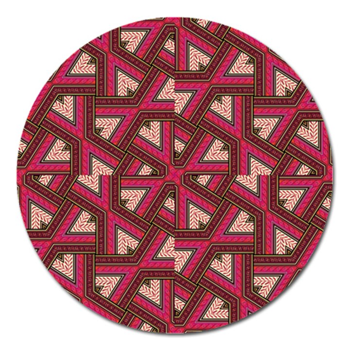 Digital Raspberry Pink Colorful  Magnet 5  (Round)