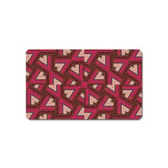 Digital Raspberry Pink Colorful  Magnet (Name Card)