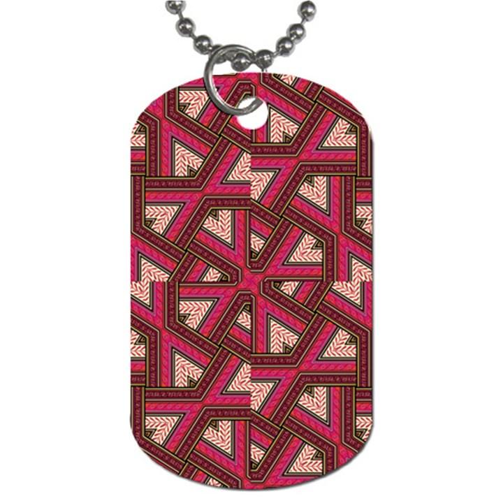 Digital Raspberry Pink Colorful  Dog Tag (One Side)