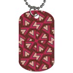 Digital Raspberry Pink Colorful  Dog Tag (Two Sides) Front