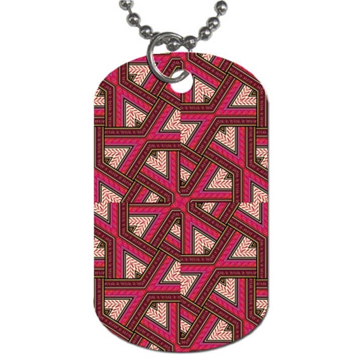 Digital Raspberry Pink Colorful  Dog Tag (Two Sides)