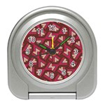 Digital Raspberry Pink Colorful  Travel Alarm Clocks Front