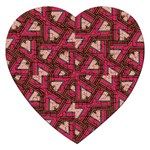 Digital Raspberry Pink Colorful  Jigsaw Puzzle (Heart) Front