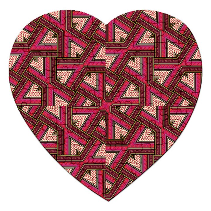Digital Raspberry Pink Colorful  Jigsaw Puzzle (Heart)
