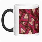 Digital Raspberry Pink Colorful  Morph Mugs Left