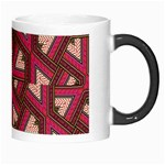 Digital Raspberry Pink Colorful  Morph Mugs Right