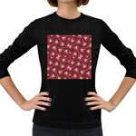 Digital Raspberry Pink Colorful  Women s Long Sleeve Dark T-Shirts Front