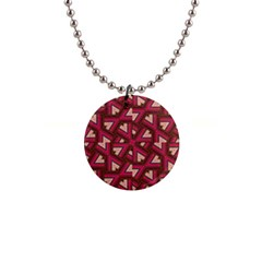 Digital Raspberry Pink Colorful  Button Necklaces