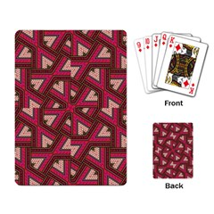 Digital Raspberry Pink Colorful  Playing Card