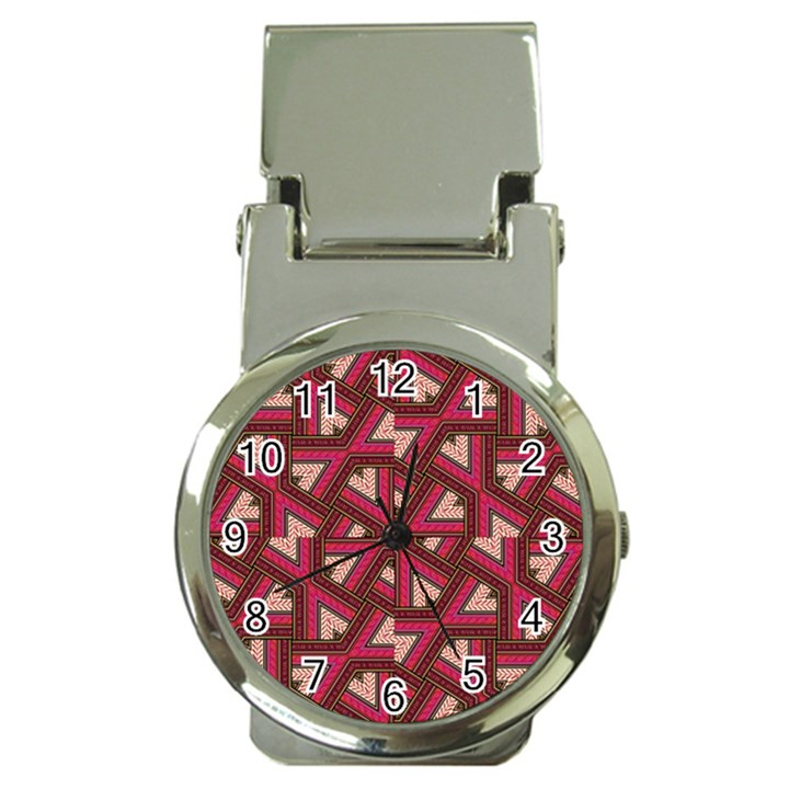Digital Raspberry Pink Colorful  Money Clip Watches