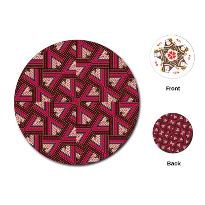 Digital Raspberry Pink Colorful  Playing Cards (Round)